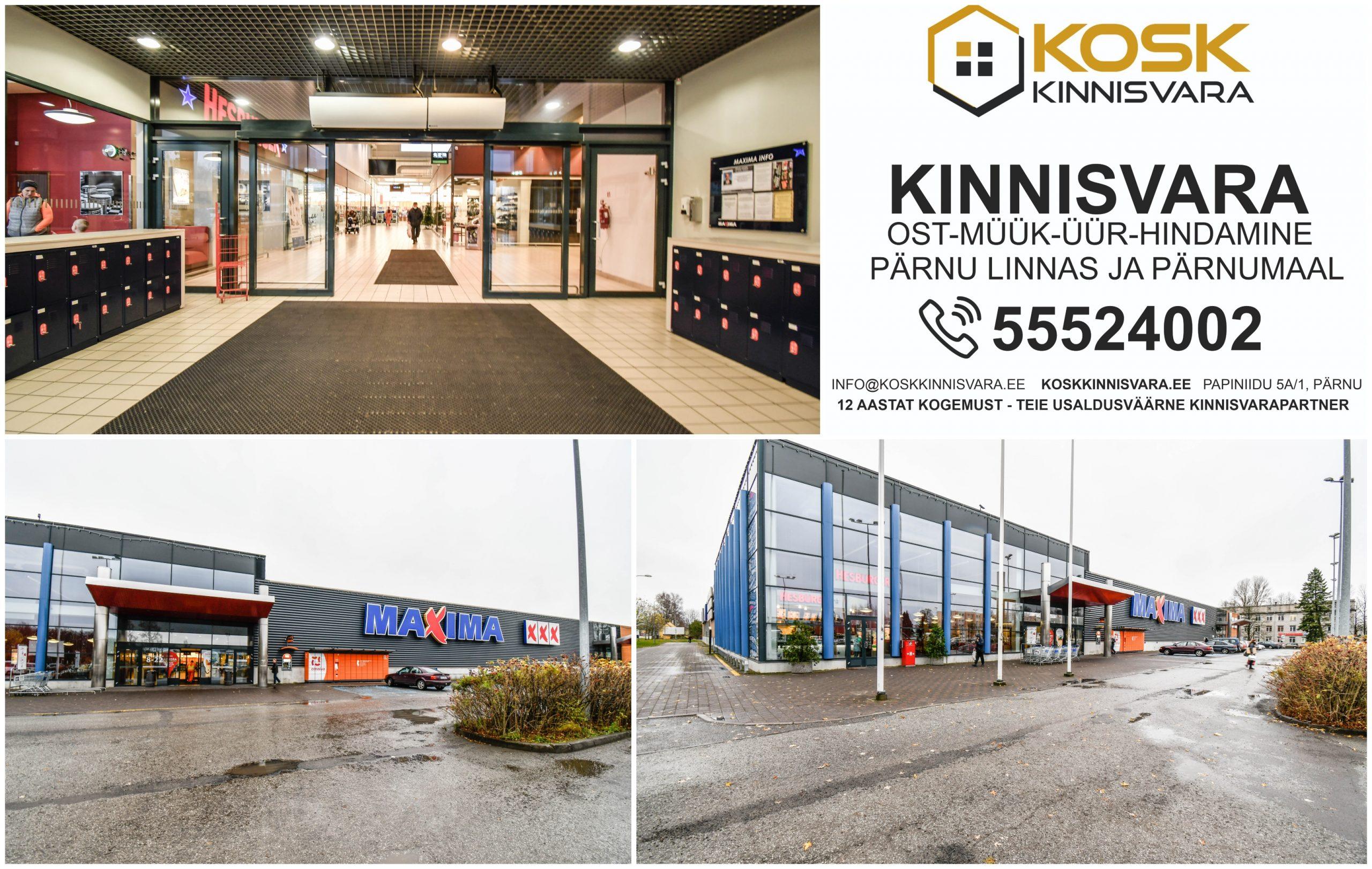 MAXIMA ÄRIKESKUS Riia mnt 131, Mai, Pärnu linn